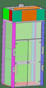Схема модульного вытяжного шкафа